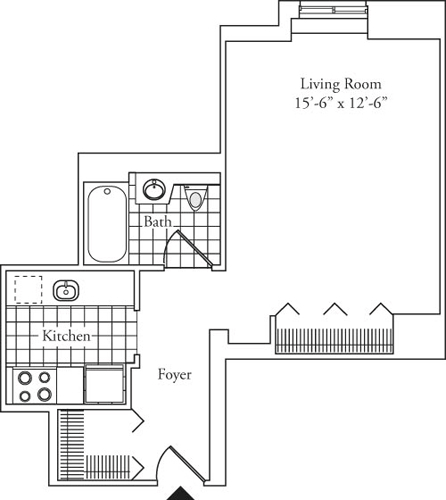 Studio, Lincoln Square Rental in NYC for $2,362 - Photo 1