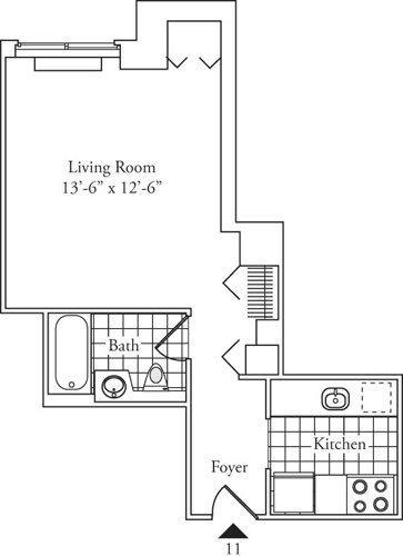 Studio, Lincoln Square Rental in NYC for $2,073 - Photo 1