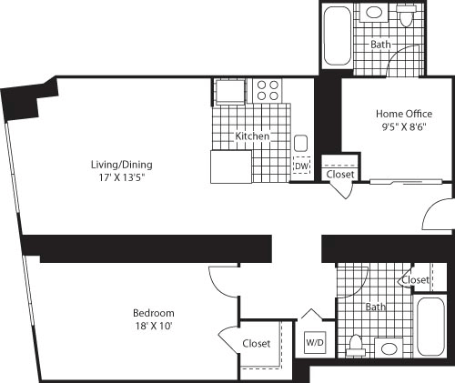 1 Bedroom, Colgate Center Rental in NYC for $3,318 - Photo 1