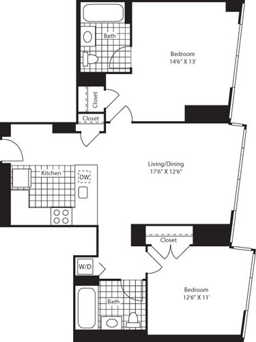 2 Bedrooms, Colgate Center Rental in NYC for $4,119 - Photo 1