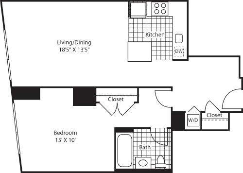 1 Bedroom, Colgate Center Rental in NYC for $2,617 - Photo 1