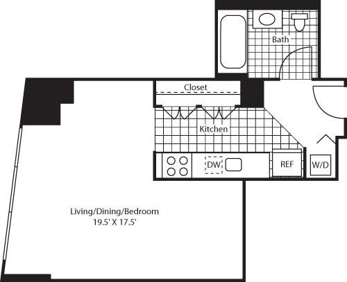 Studio, Colgate Center Rental in NYC for $2,174 - Photo 1