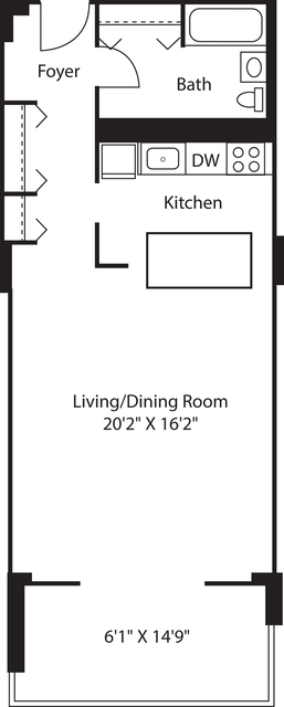 Studio, West End Rental in Boston, MA for $3,070 - Photo 1