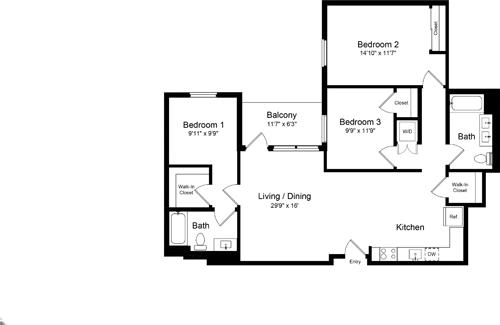 3 Bedrooms, Design District Rental in San Francisco Bay Area, CA for $6,064 - Photo 1