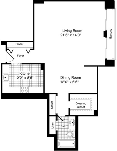 Studio, Forest Hills Rental in Washington, DC for $1,742 - Photo 1