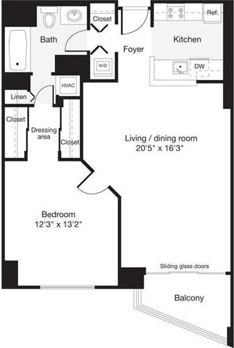 1 Bedroom, Cleveland Park Rental in Washington, DC for $2,233 - Photo 1