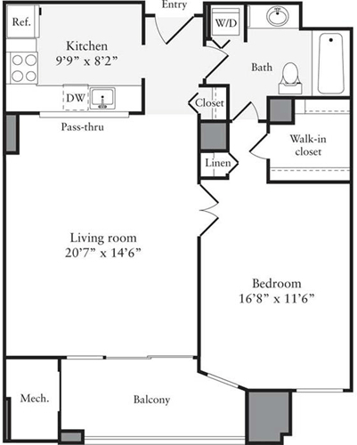 1 Bedroom, Clarendon - Courthouse Rental in Washington, DC for $2,130 - Photo 1