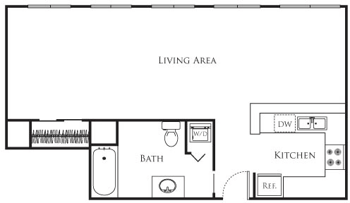 Studio, Financial District Rental in Los Angeles, CA for $2,240 - Photo 1