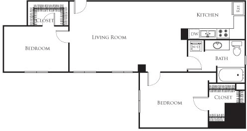 2 Bedrooms, Financial District Rental in Los Angeles, CA for $2,180 - Photo 1