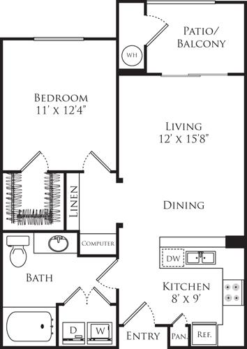 1 Bedroom, Downtown Fullerton Rental in Los Angeles, CA for $2,387 - Photo 1