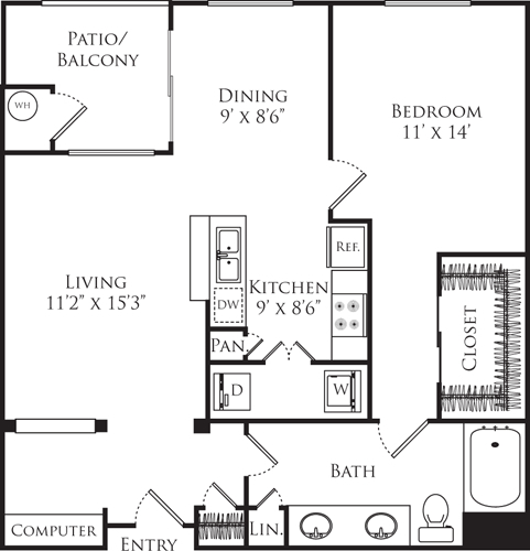 1 Bedroom, Downtown Fullerton Rental in Los Angeles, CA for $2,560 - Photo 1