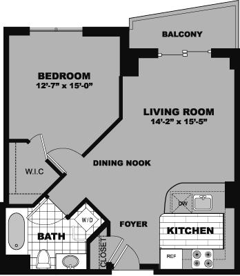 1 Bedroom, Bank Square Rental in Boston, MA for $2,540 - Photo 1