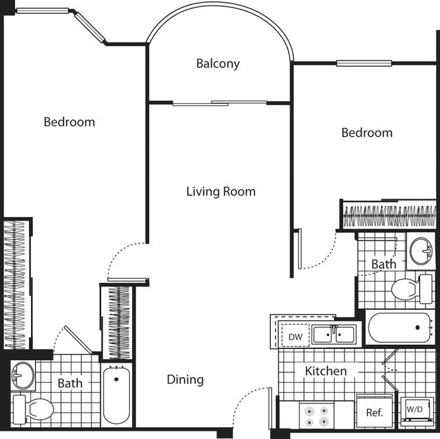 2 Bedrooms, Wilshire Center - Koreatown Rental in Los Angeles, CA for $2,977 - Photo 1