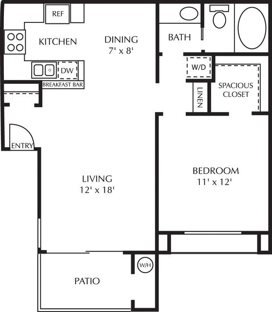 1 Bedroom, Vista del Lago Apartments Rental in Los Angeles, CA for $2,428 - Photo 1