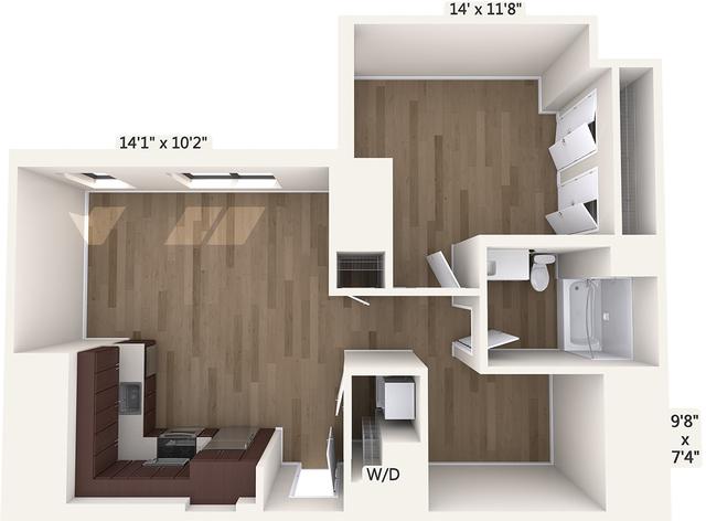 1 Bedroom, Downtown Boston Rental in Boston, MA for $2,620 - Photo 1
