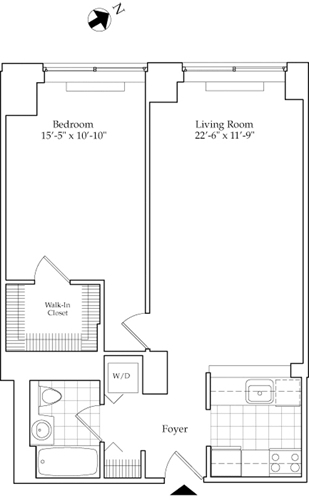 1 Bedroom, Lincoln Square Rental in NYC for $3,581 - Photo 1