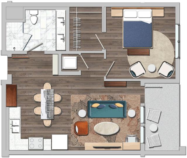 1 Bedroom, Wilshire Center - Koreatown Rental in Los Angeles, CA for $2,562 - Photo 1