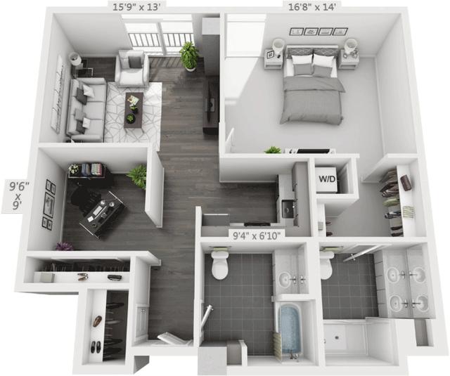 1 Bedroom, Golden Triangle Rental in Denver, CO for $2,300 - Photo 1