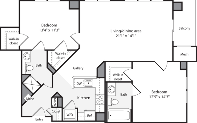 2 Bedrooms, Lyon Village Rental in Washington, DC for $3,149 - Photo 1