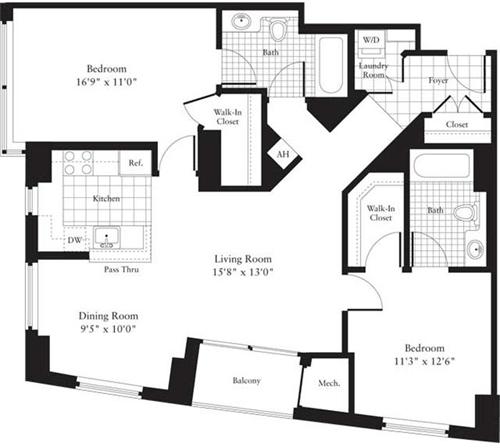 2 Bedrooms, Ballston - Virginia Square Rental in Washington, DC for $2,697 - Photo 1