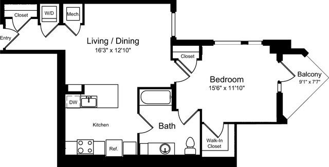 1 Bedroom, NoMa Rental in Baltimore, MD for $2,285 - Photo 1