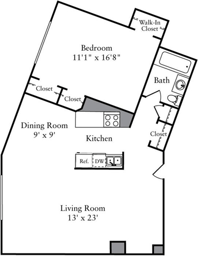 1 Bedroom, Woodley Park Rental in Washington, DC for $2,313 - Photo 1