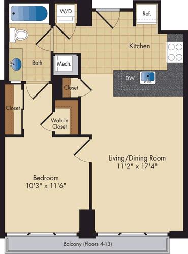 1 Bedroom, Ballston - Virginia Square Rental in Washington, DC for $2,201 - Photo 1