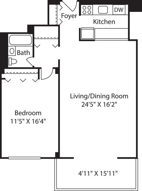 1 Bedroom, Downtown Boston Rental in Boston, MA for $2,820 - Photo 1