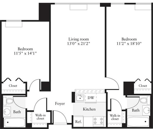 2 Bedrooms, Hudson Rental in NYC for $3,334 - Photo 1