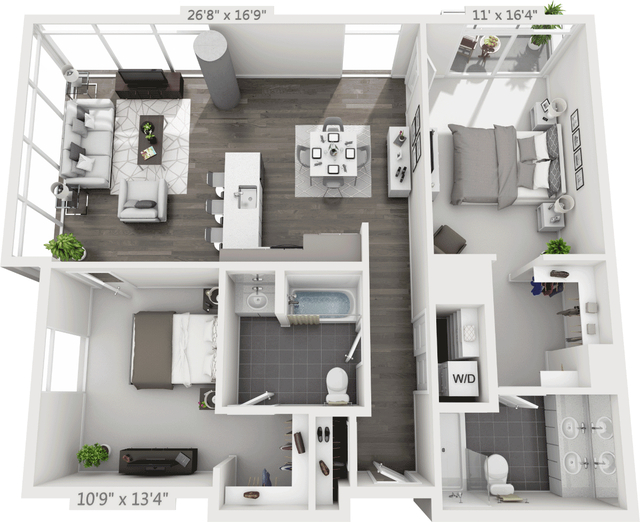 2 Bedrooms, Golden Triangle Rental in Denver, CO for $3,110 - Photo 1