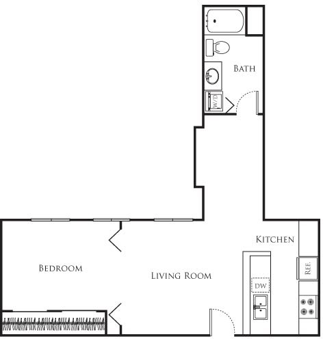 1 Bedroom, Financial District Rental in Los Angeles, CA for $1,820 - Photo 1