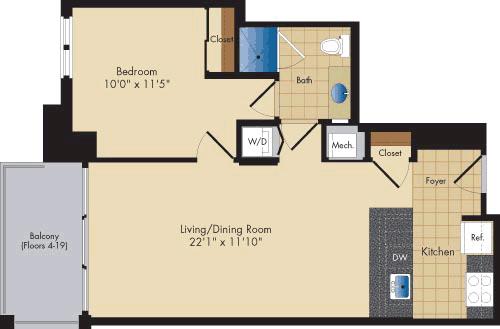 1 Bedroom, Ballston - Virginia Square Rental in Washington, DC for $2,330 - Photo 1