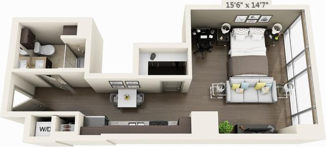 Studio, Seaport District Rental in Boston, MA for $2,356 - Photo 1