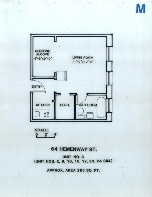 Studio, Fenway Rental in Boston, MA for $1,745 - Photo 1