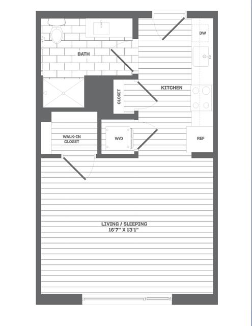 Studio, Medford Street - The Neck Rental in Boston, MA for $2,540 - Photo 1