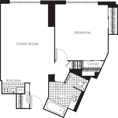 1 Bedroom, Connecticut Avenue - K Street Rental in Washington, DC for $2,336 - Photo 1