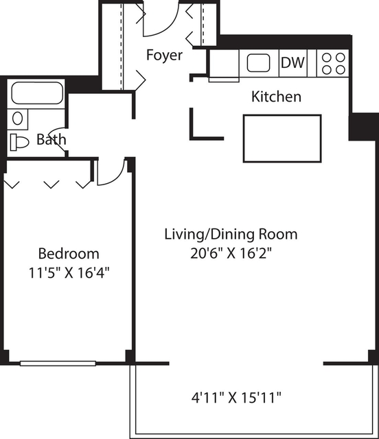1 Bedroom, Downtown Boston Rental in Boston, MA for $2,110 - Photo 1