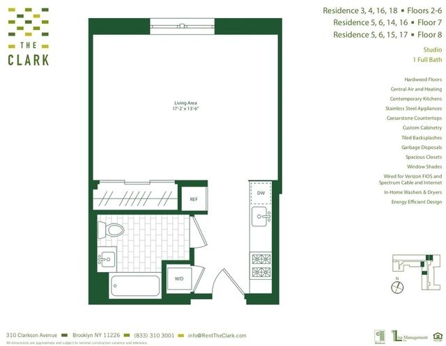 Studio, Flatbush Rental in NYC for $1,630 - Photo 1