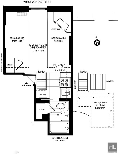 Studio, Chelsea Rental in NYC for $1,750 - Photo 1