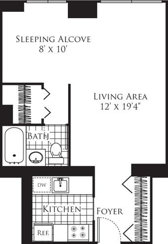 Studio, Hell's Kitchen Rental in NYC for $3,533 - Photo 1