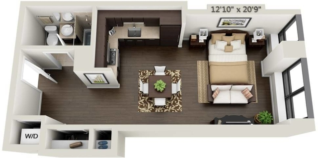Studio, Financial District Rental in NYC for $2,093 - Photo 1