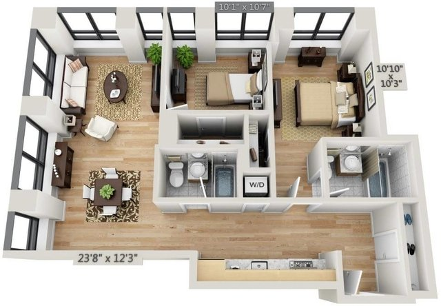 2 Bedrooms, Financial District Rental in NYC for $4,670 - Photo 1
