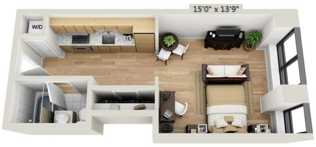 Studio, Financial District Rental in NYC for $2,007 - Photo 1