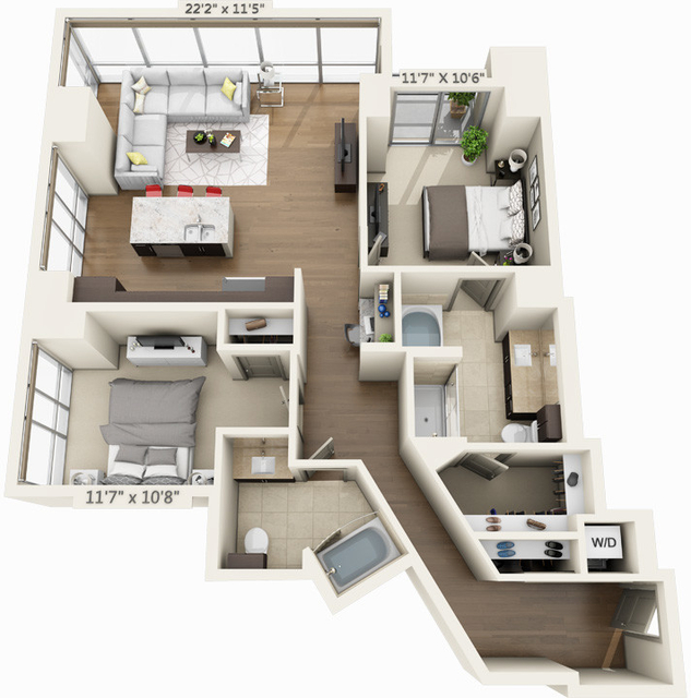 2 Bedrooms, Seaport District Rental in Boston, MA for $5,333 - Photo 1