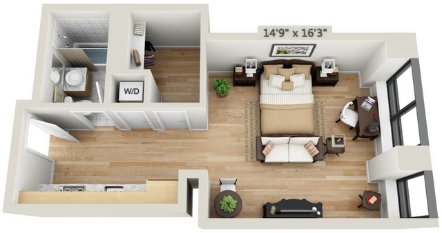 Studio, Financial District Rental in NYC for $2,478 - Photo 1