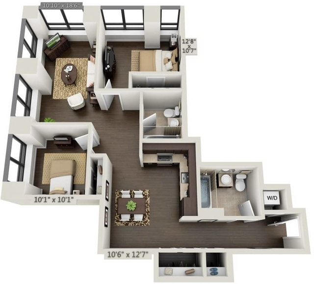 2 Bedrooms, Financial District Rental in NYC for $6,431 - Photo 1