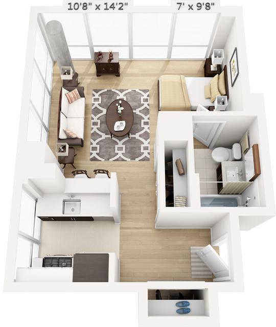 Studio, Manhattan Valley Rental in NYC for $2,874 - Photo 1