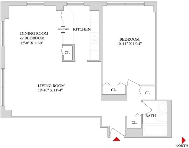 2 Bedrooms, Rose Hill Rental in NYC for $3,980 - Photo 1