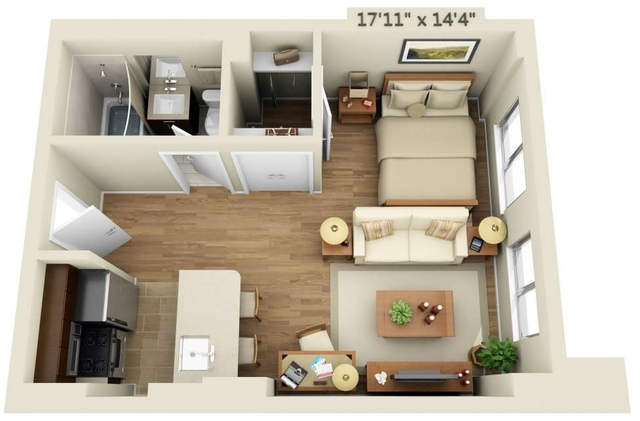 Studio, Chelsea Rental in NYC for $3,487 - Photo 1