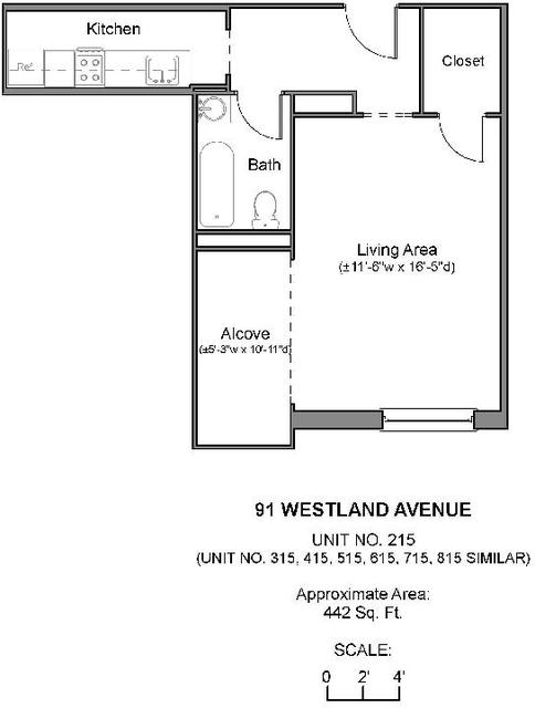 Studio, Fenway Rental in Boston, MA for $2,150 - Photo 1